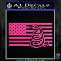 Dont Tread On Me Gadsden Snake American Flag Decal Sticker Hot Pink Vinyl 120x120
