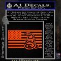 Dont Tread On Me Gadsden Snake American Flag Decal Sticker Orange Vinyl Emblem 120x120