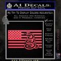 Dont Tread On Me Gadsden Snake American Flag Decal Sticker Pink Vinyl Emblem 120x120