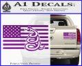Dont Tread On Me Gadsden Snake American Flag Decal Sticker Purple Vinyl 120x97