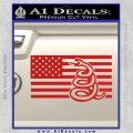 Dont Tread On Me Gadsden Snake American Flag Decal Sticker Red Vinyl 120x120