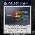 Dont Tread On Me Gadsden Snake American Flag Decal Sticker Sparkle Glitter Vinyl 120x120