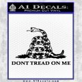 Dont Tread On Me Snake Intricate Decal Sticker Black Logo Emblem 120x120