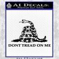 Dont Tread On Me Snake Intricate Decal Sticker Black Logo Emblem 120x120