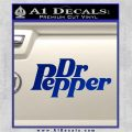 Dr Pepper Logo RDZ Decal Sticker Blue Vinyl 120x120