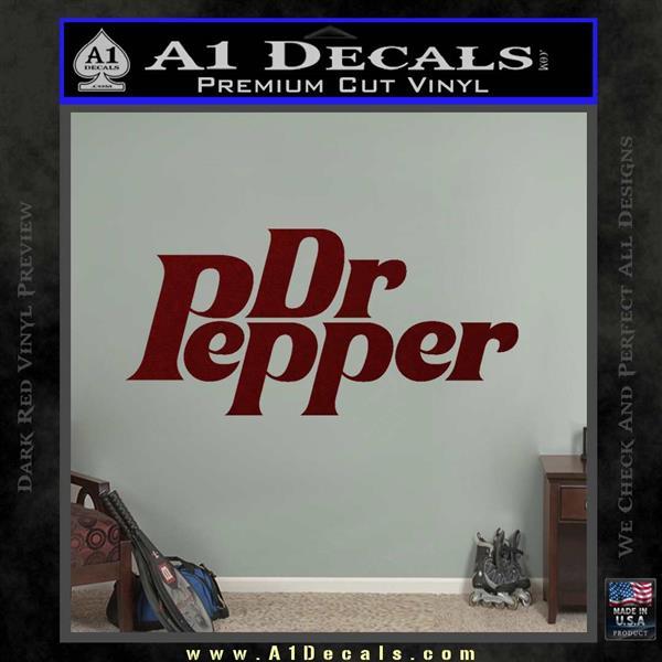 Dr Pepper Logo RDZ Decal Sticker Dark Red Vinyl