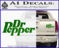 Dr Pepper Logo RDZ Decal Sticker Green Vinyl 120x97