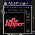 Dr Pepper Logo RDZ Decal Sticker Pink Vinyl Emblem 120x120