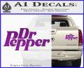 Dr Pepper Logo RDZ Decal Sticker Purple Vinyl 120x97