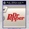 Dr Pepper Logo RDZ Decal Sticker Red Vinyl 120x120