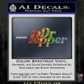 Dr Pepper Logo RDZ Decal Sticker Sparkle Glitter Vinyl 120x120