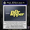 Dr Pepper Logo RDZ Decal Sticker Yelllow Vinyl 120x120
