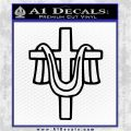 Draped Cross Crucifix D2 Decal Sticker Black Logo Emblem 120x120