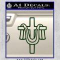 Draped Cross Crucifix D2 Decal Sticker Dark Green Vinyl 120x120