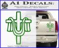 Draped Cross Crucifix D2 Decal Sticker Green Vinyl 120x97