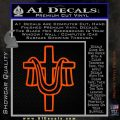 Draped Cross Crucifix D2 Decal Sticker Orange Vinyl Emblem 120x120