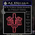 Draped Cross Crucifix D2 Decal Sticker Pink Vinyl Emblem 120x120