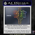 Draped Cross Crucifix D2 Decal Sticker Sparkle Glitter Vinyl 120x120