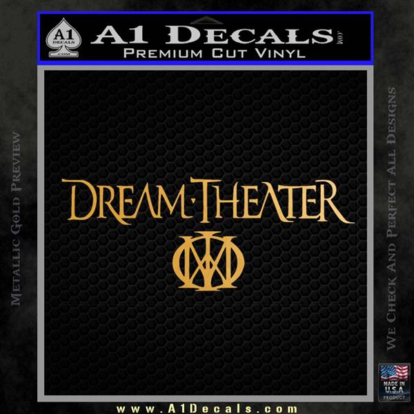 Dream Theater Stacked Decal Sticker Metallic Gold Vinyl