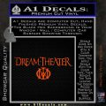 Dream Theater Stacked Decal Sticker Orange Vinyl Emblem 120x120