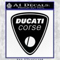 Ducati Corse D1 Decal Sticker Black Logo Emblem 120x120