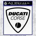Ducati Corse D2 Decal Sticker Black Logo Emblem 120x120