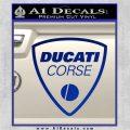 Ducati Corse D2 Decal Sticker Blue Vinyl 120x120