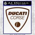 Ducati Corse D2 Decal Sticker Brown Vinyl 120x120