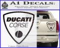 Ducati Corse D2 Decal Sticker Carbon Fiber Black 120x97