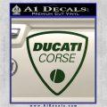 Ducati Corse D2 Decal Sticker Dark Green Vinyl 120x120