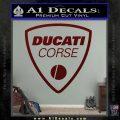 Ducati Corse D2 Decal Sticker Dark Red Vinyl 120x120