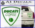 Ducati Corse D2 Decal Sticker Green Vinyl 120x97