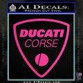 Ducati Corse D2 Decal Sticker Hot Pink Vinyl 120x120