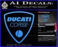 Ducati Corse D2 Decal Sticker Light Blue Vinyl 120x97