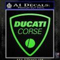 Ducati Corse D2 Decal Sticker Lime Green Vinyl 120x120