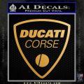 Ducati Corse D2 Decal Sticker Metallic Gold Vinyl 120x120