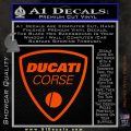 Ducati Corse D2 Decal Sticker Orange Vinyl Emblem 120x120