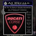 Ducati Corse D2 Decal Sticker Pink Vinyl Emblem 120x120