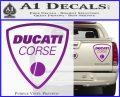 Ducati Corse D2 Decal Sticker Purple Vinyl 120x97