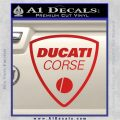 Ducati Corse D2 Decal Sticker Red Vinyl 120x120