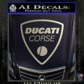 Ducati Corse D2 Decal Sticker Silver Vinyl 120x120