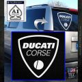 Ducati Corse D2 Decal Sticker White Emblem 120x120