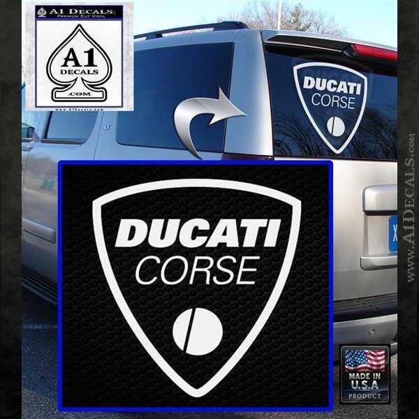 Ducati Corse D2 Decal Sticker White Emblem