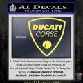 Ducati Corse D2 Decal Sticker Yelllow Vinyl 120x120