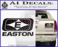 Easton Archery Logo Decal Sticker Carbon Fiber Black 120x97