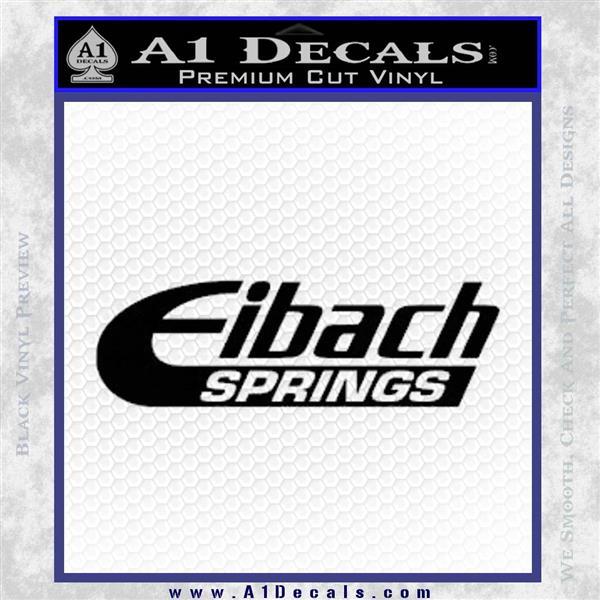 Eibach Springs DW Decal Sticker Black Logo Emblem