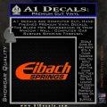Eibach Springs DW Decal Sticker Orange Vinyl Emblem 120x120