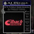 Eibach Springs DW Decal Sticker Pink Vinyl Emblem 120x120