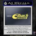 Eibach Springs DW Decal Sticker Yelllow Vinyl 120x120