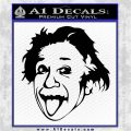 Einstein Sticking Tongue Out Decal Sticker Black Logo Emblem 120x120